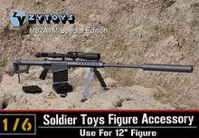 1:6 ZY Toys Barrett Sniper Rifle M82A1 (CQ) 8012 Gun Model Toy Weapon Lengthened barrel 12 inch Figure - Top & Hobbies Co.,Ltd store