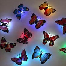 2015 nouvelle arrivée réel papillon fleur Sucker nuit lumière. Petite appliques murales lumières décoratives, Les enfants cadeaux de noël(China (Mainland))