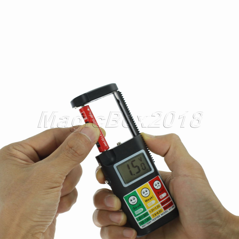 High Quality Universal Digital Cell Battery Detector LCD Battery Capacity Tester Checker for AA AAA C D 9V Button Free Shipping(China (Mainland))