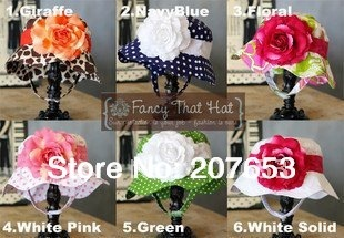 FREE SHIPPING 15pcs/lot   Doomagic Baby Caps baby Summer Hat Flower girl's hat with flower