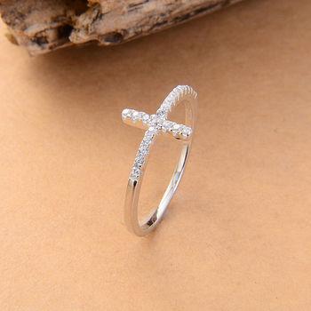Тенденция боком крест серебряные кольца штампованные 925 серебро мода ювелирные изделия ...