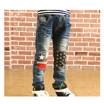 2015 New Winter Pants Thick Ripped Casual Jeans Kids Blue Skinny Fashion Children Clothing Little Kid Sport Denim Pants