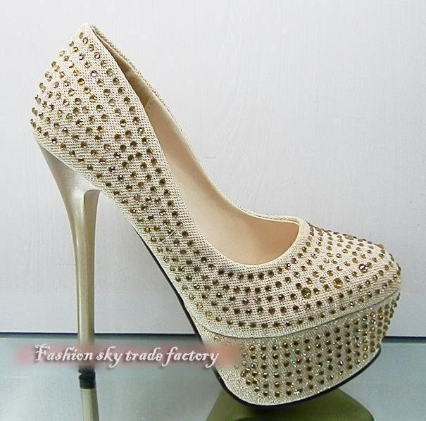 Beautiful Silver High Heels