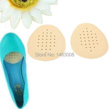 1 Pair Latex Soft Anti-slip Half Insole Shoe Pads Cushion Massage Foot Care ETS8 High Quality(China (Mainland))