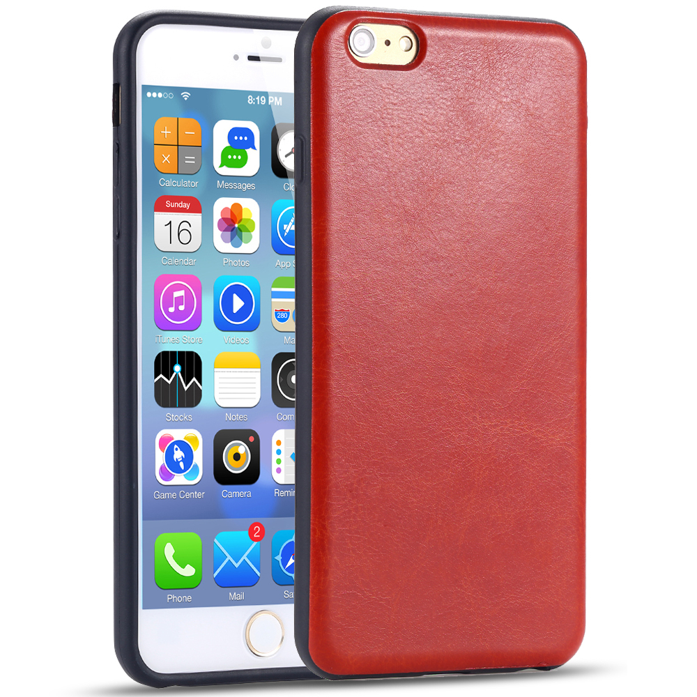 Luxury Leather Case Apple iphone 6/6s Plus Simple Retro Back Cover Shell iPhone 6 6s Cellphone Protective Casing - YXF Technology Co., Ltd. store