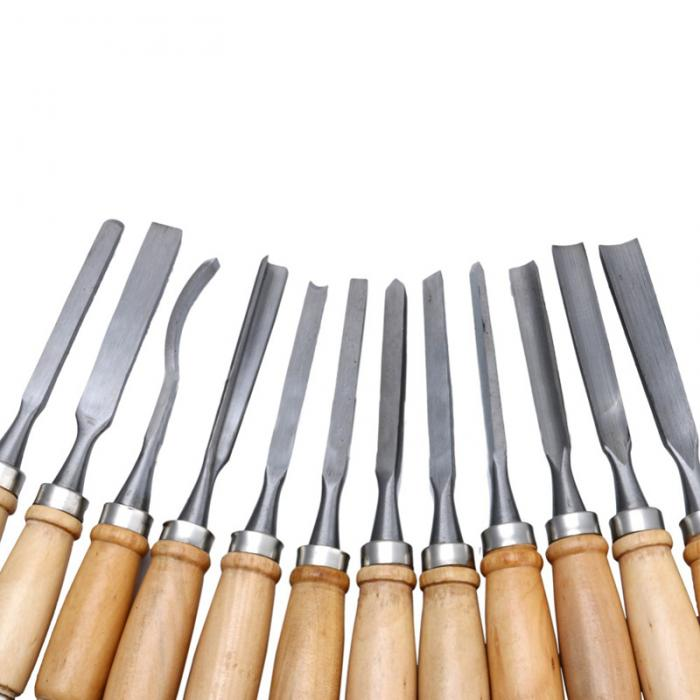 Buy 12pcs/Set New Multi Tool Hand Wood Carving Chisels Knife For Basic Woodcut DIY  TB Sale cheap