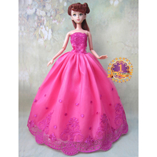 1pcs model choose option Wedding Dress Princess Gown Dress Clothes Gown For Barbie doll dress(China (Mainland))