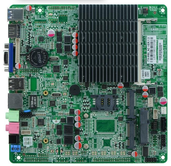 Celeron J1800 Quad Core Fanless Mini ITX Motherboard Bay Trail platform(China (Mainland))