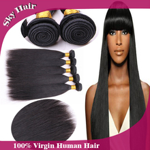 6a peruvian virgin straight hair 4 pcs lot 100g/3.5oz hair extensions unprocessed human hair weaves with wholesale price(China (Mainland))