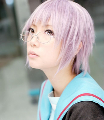 Free shipping Cosplay wig cold palace spring 12 inches pink role modelling(China (Mainland))