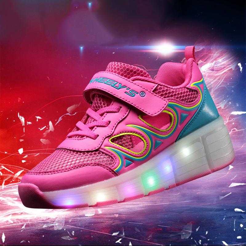 Kids Girls Shoes Children Heelys Roller Sneakers Wheels Boys LED Light zapatillas deportivas hombre - DZ Dreams Store store
