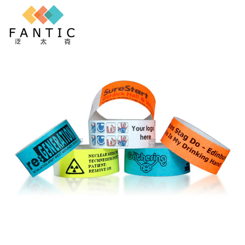 Good sale 200pcs without logo multi-color cheapest custom paper custom sports wristbands,customized paper wristbands for sale(China (Mainland))