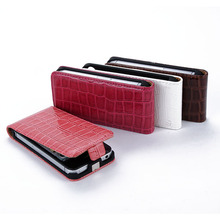 Fashion Vertical Crocodile Skin PU Leather Case Flip Cover For iPhone 4 4S 4GS(China (Mainland))