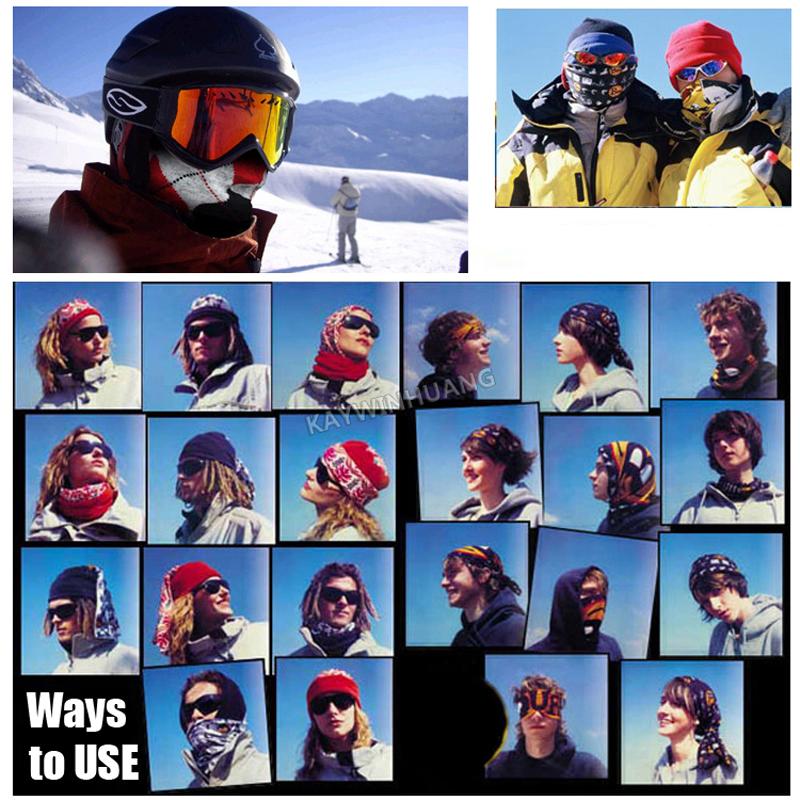 Дополнительно спорт стили 100% полиэстер микрофибра камера головные уборы много бандана для мужчины