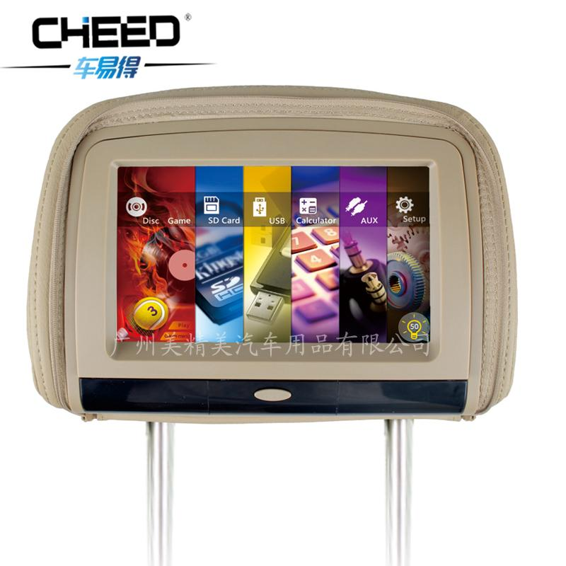 Car headrest monitor with touch screen 9 inch car headrest monitor HD P5 Internet(China (Mainland))
