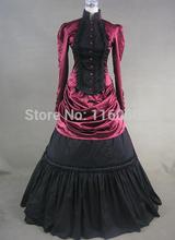 Graceful Vintage Gothic Victorian Dress Floor Length