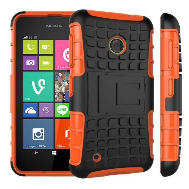 2Mix color Dual Armor TPU&PC lumia 530 Mobile Cell Combo phone case Stand Nokia Stock