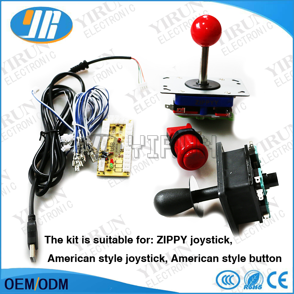 Free shipping Zero Delay Arcade USB Encoder PC to Arcade Joystick Control board For MAME 2pin SANWA Type/American Push buttons(China (Mainland))