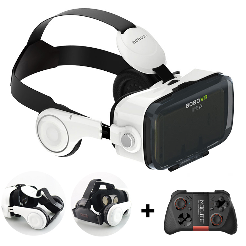 BOBOVR Z4 +Stereo Headphone 3d video glasses virtual reality VR Headset Google Cardboard oculus rift for 4-6.0'phone + Gamepad(China (Mainland))