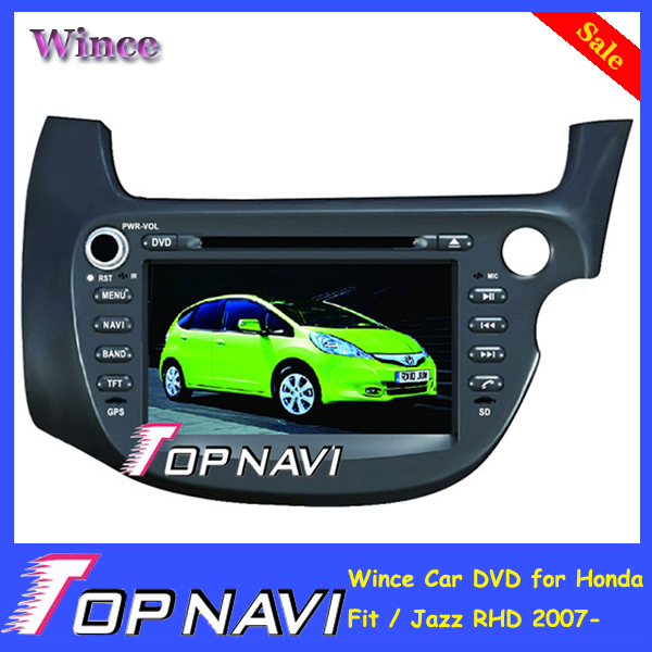 2015 Top Free Shipping Professional Wince Car Multimedia DVD Radio Audio For Honda Fit /Jazz RHD 2007- With GPS Navi BT Free Map<br><br>Aliexpress