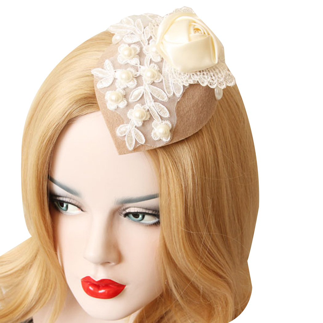 New Arrival Gothic Fascinator Roses Headdress Headwear Hair Clip for Women White hair accessories free shipping(China (Mainland))