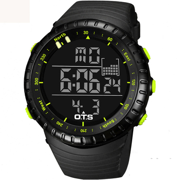 2016 New large face clock men digital-watch military watch army tactical sports watchese top brand OTS LED cool black fashion
