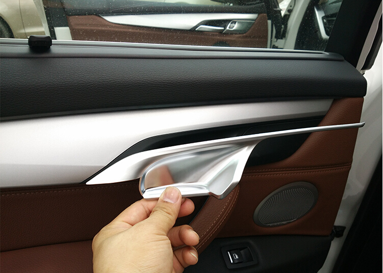 Interior Accessories For Bmw X5 X6 Inside Door Handle Bar Wrist Bowl Decorative Protective Cover