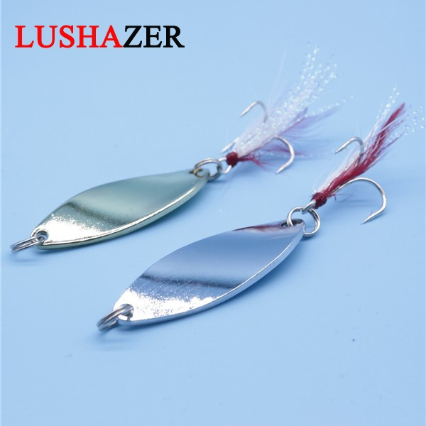 Lushazer spoon lure 10g spinnerbait hard baits iscas artificiais para pesca fish wobblers hand spinner fishing tackles(China (Mainland))
