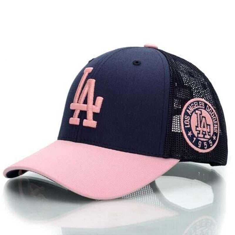 Men's hats Pink Navy baseball cap sports team Los Angeles Dodgers Snapback trucker hats(China (Mainland))