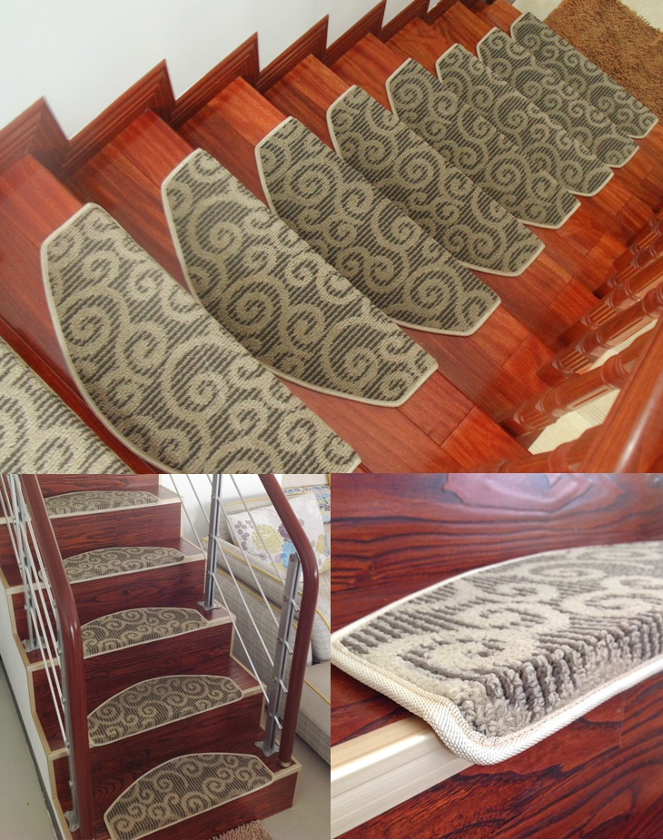 13mm thickup class luxury skid slip resistant stair for Luxury stair carpet