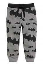 2015 Spring Boys Kids Cartoon Batman Printed Pants Casual Grey Trousers 2-7Y(China (Mainland))