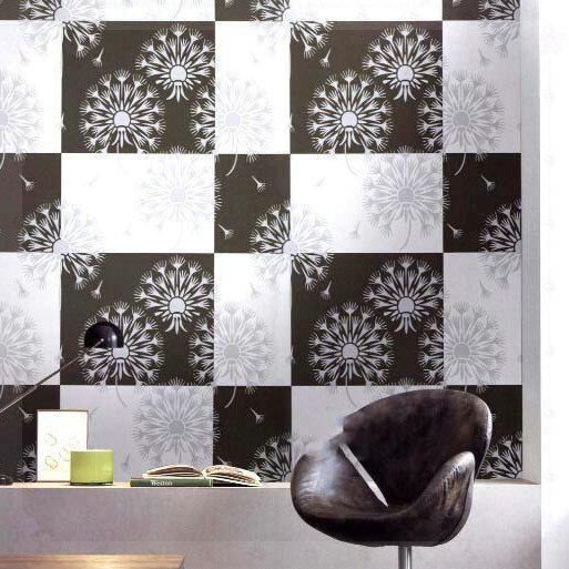 Decor Black Wall Paper : Modern simple fashion wall paper black and white wallpaper