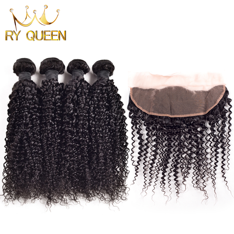 Malaysian Kinky Curly Hair 4 Bundles With Closure Soft Malaysian Curly Hair With Closure 100% Human Hair Cheap Malaysian Hair