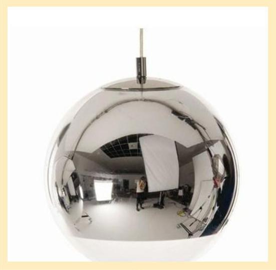 Hanging Light Up Mirror: Tom DIxon Lamp Pendant Light Diameter 15cm Plated Silver