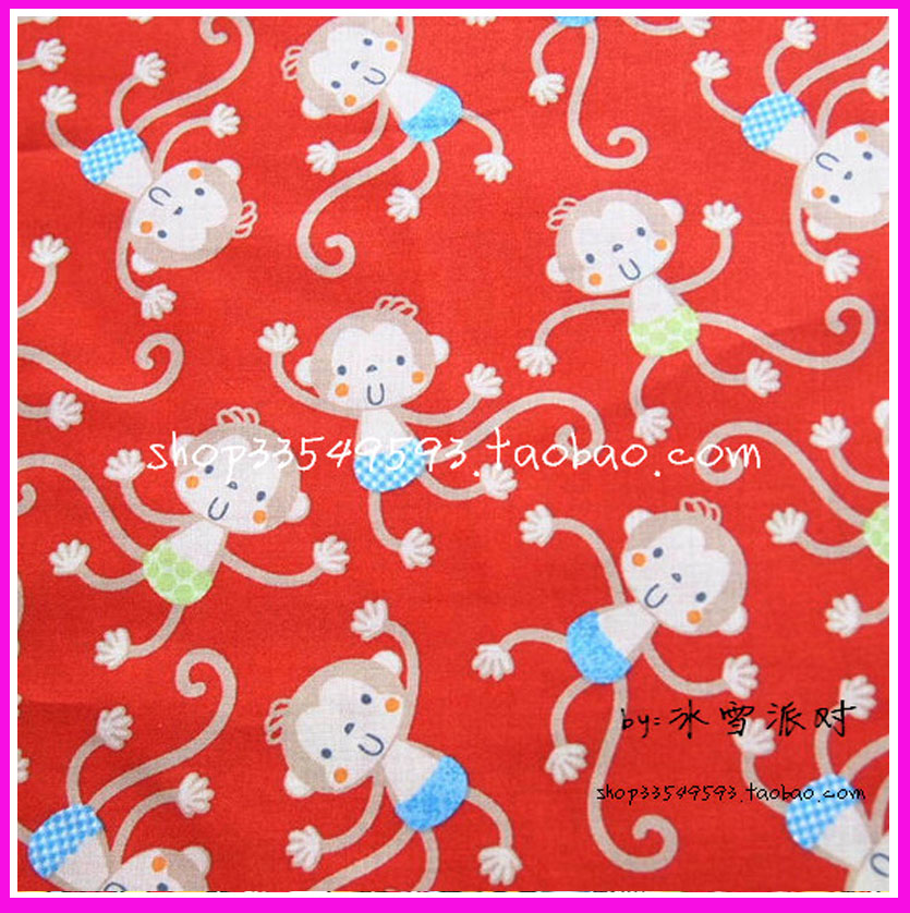 Red felt material promotion shop for promotional red felt for Baby monkey fabric prints