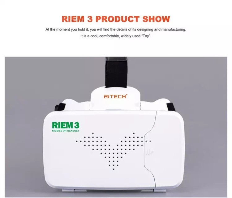 New Ritech III Update from Ritech II version 3D VR Box Virtual Reality Glasses With AR for 4.0-6.0 inch Phone