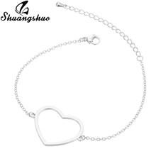 Shuangshuo Animal Cat Charm Bracelets & Bangles Women Gold Jewelry Stainless Steel Cuff Bracelet Weeding pulseras bijoux femme(China)