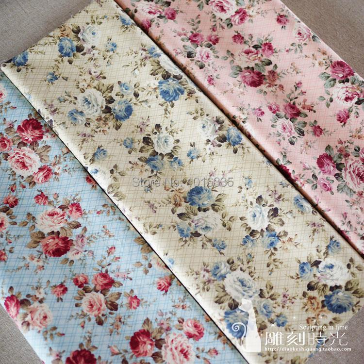 Hot sale vintage rose printed 100 cotton children s for Children s cotton dress fabric