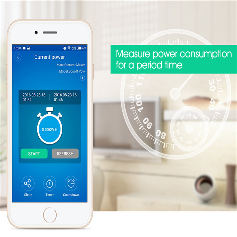 Sonoff Pow Smart Switch Smart Home Automation Wireless WiFi Smart Remote Controller Temperature Humidity Thermostat Module