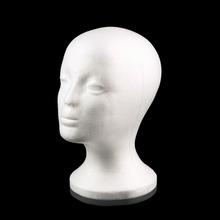 White Female Styrofoam Mannequin Manikin Head Model Foam Sponge Wig Hair Glasses Display Glasses Cap Display Stand(China (Mainland))