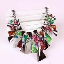 New arrival Wholesale Costume Jewelry Vintage Retro Rhinestone Statement necklace For Women TAJ11(China (Mainland))