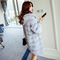 mink marten fur coat overcoat Women hooded medium long