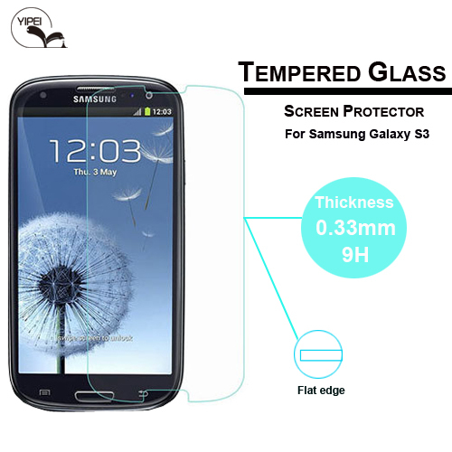 2014 new 0.33mm 9H Explosion Proof Premium Tempered Glass Screen Protector for samsung galaxy s3 i9300 Anti Shatter Film(China (Mainland))