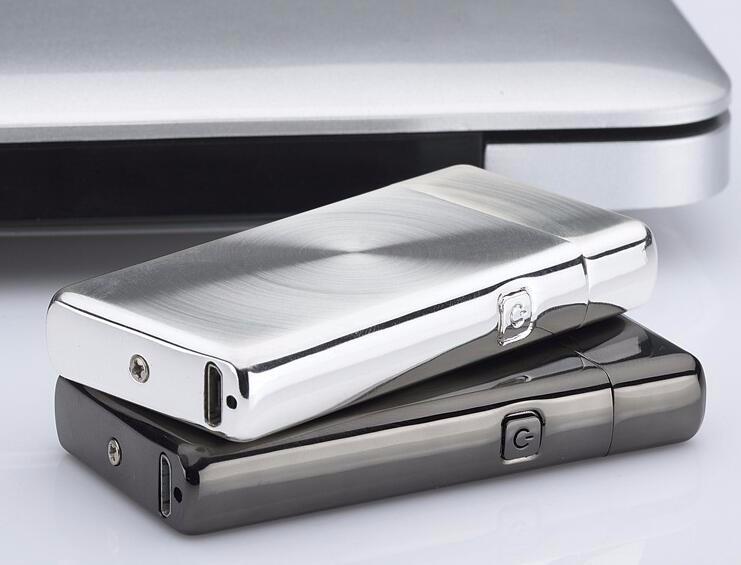 ถูก 100ชิ้น/ล็อตไฟฟ้าArc Flamelessเบาencendedorลมแบบชาร์จไม่มีก๊าซUSBไฟแช็กอุปกรณ์การสูบบุหรี่