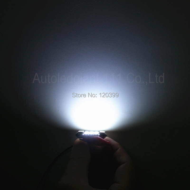 10pcs Super White 36mm Festoon 5050 SMD 6 LED C5W Car Led Auto Interior Dome Door
