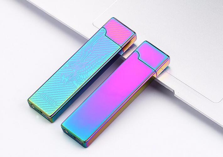 ถูก 1ชิ้น2016 Usbชาร์จบางเฉียบไฟแช็windproofคู่arcชีพจรarcสร้างสรรค์usbบุหรี่อิเล็กทรอนิกส์เบา
