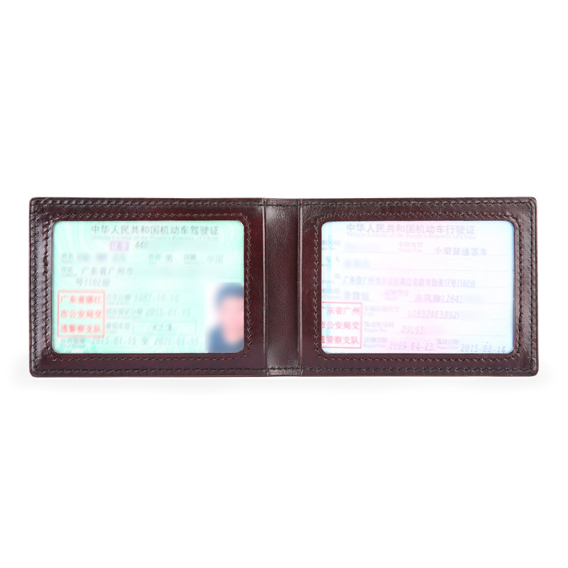 TERSE Men driver's license wallet cowhide leather 6 colors good quality wallet lettering luxury durable men card holder handmade(China (Mainland))