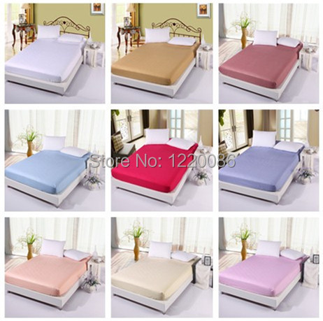 Hot Sale 100% Cotton Bed Sheet Colorful Twin/Queen/King Size Fitted Sheet bedspread Mattress Cover Sheets Not Fade Not Pilling(China (Mainland))