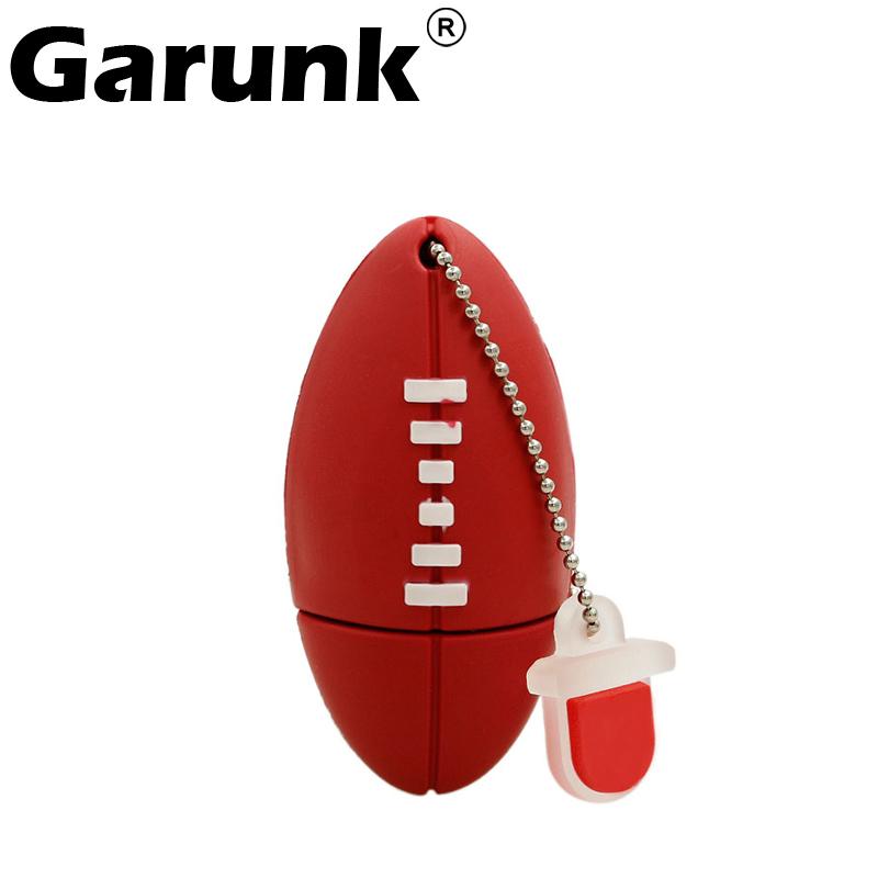 Garunk Pen drive American Football Sports Rugby U Disk 4G 8G 16G 32G USB Flash Drive 2.0 Memory Drive Stick Pendrive Creative(China (Mainland))