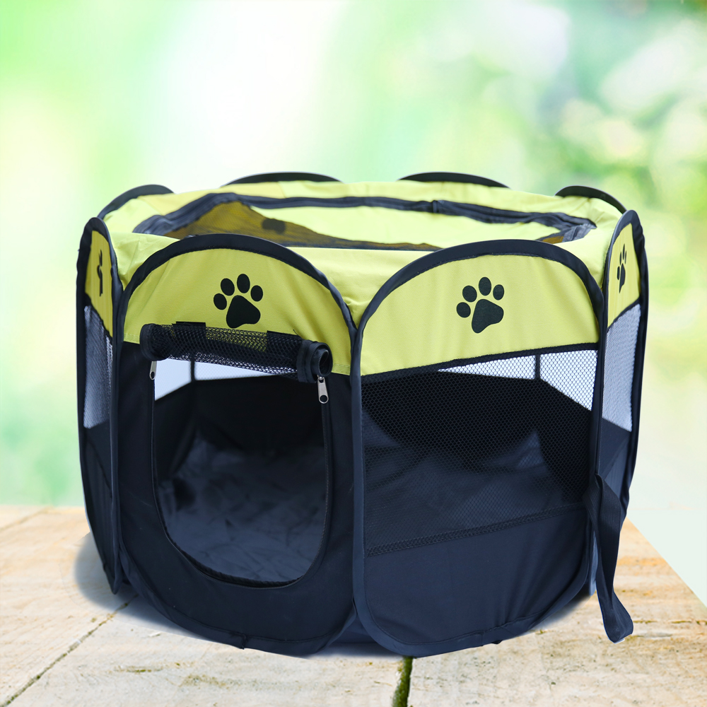 Portable Folding Pet Tent Playpen Dog Cat Fence Puppy Kennel Easy Operation Folding Exercise Play In House Or Ped Bed Outdoor(China (Mainland))
